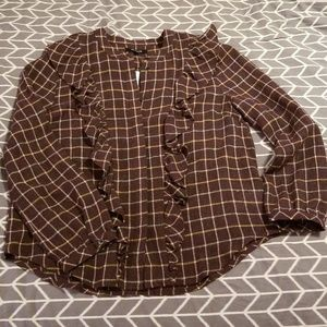 Madewell ruffle blouse